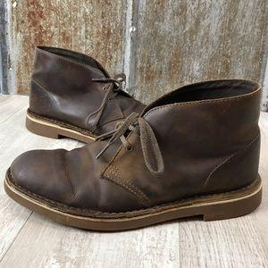 Cerdito Subdividir orquesta  Clarks Shoes | Clarks Bushacre 2 Beeswax Leather Chukka Boot 9 | Poshmark